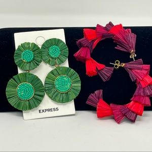 Express 2 pair of BOHO style earrings 1 is NWT